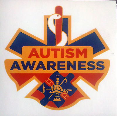 Autism Awareness 1st Responder firefighter fireman EMS EMT paramedic stickers