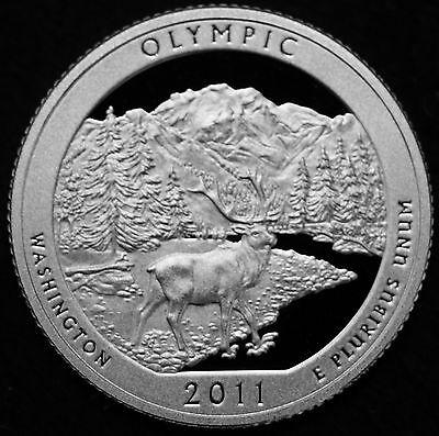 2011 S Olympic Washington Mint Silver Proof ATB National Parks from Proof Set