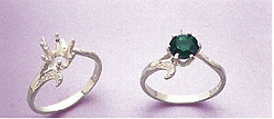 (4-6mm) Solid Sterling Silver Round Textured Pre-Notched Ring Casting (Size 5-8)