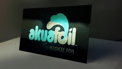 1000 Full Color 2 Sided Akuafoil Silver FOIL Business Card w/ UV Lamination SAVE