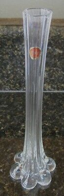 Tall Glass Snowflakes Bud Vase China Clear Foil Sticker
