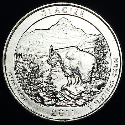 2011 D Glacier MT ~ America the Beautiful National Parks from Mint Set