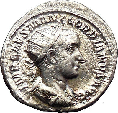 Gordian III 238AD Silver Ancient Roman Coin Forethought Goddess Cult  i30174