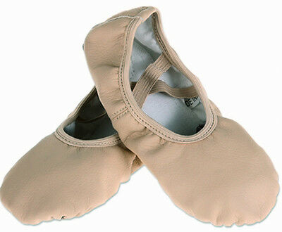 Beige Color Toddler/Girls PU Split Sole Ballet Dance Shoes Fitness Shoes