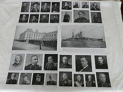 """Black and White U.S. Navy Prints From Early 1900's, 6 Copies, 11"""" x 15"""""""