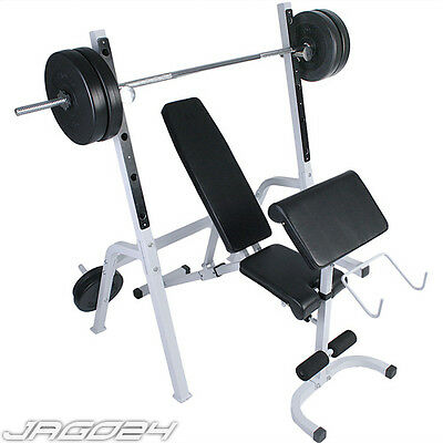 Weight Bench Barbell Rest Multi Workout Press Lifting Fitness Gym Home Dumbbell
