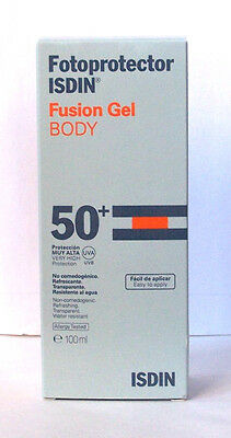 Fotoprotector ISDIN Fusion Gel Body 50+ 100 ml