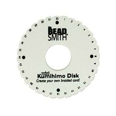 LOT of 5 Mini KUMIHIMO Round Disks PLATE for BRAIDING 4.25 inch ~No packaging
