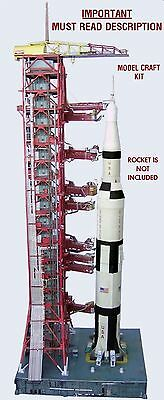 Launch Umbilical Tower (LUT) Model Craft Kit for 1:96 Revell Saturn V - Pad Only