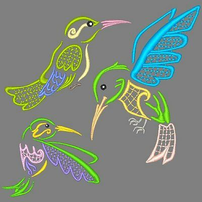 Hummers - 30 Machine Embroidery Designs (Azeb)