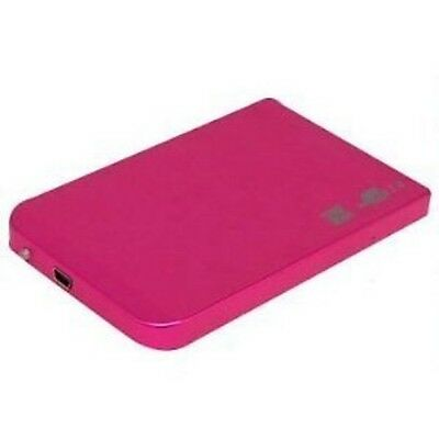 "New 1TB 1000 GB External Portable 2.5"" USB Hard Drive *Pink* For Mac Use"