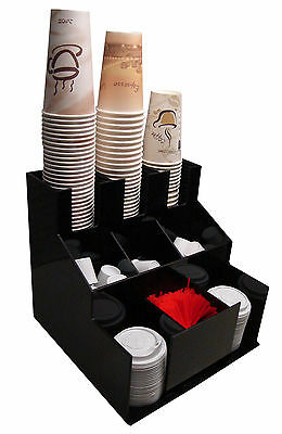 Cup office lid dispenser Holder coffee Condiment Caddy Cup Rack Sugar Organizer