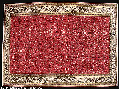 Semi ,Antique, Turkish Kayseri, Oushak hand made Oriental Rug, carpet, 6-8 x 9-9