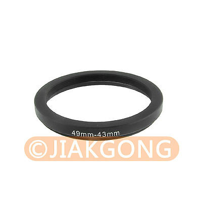 49mm-43mm 49-43 Step Down Filter Ring Stepping Adapter