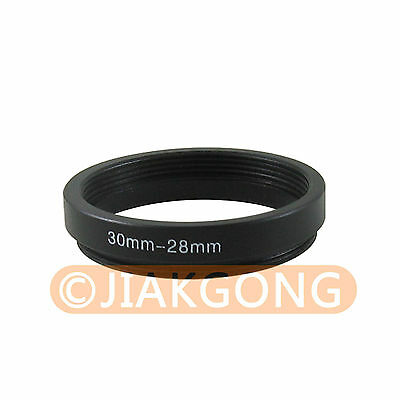 black 30mm-28mm 30-28 mm Step Down Filter Ring Adapter