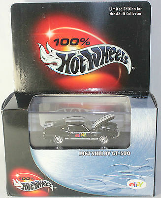 Hot Wheels 1967 Shelby GT-500 Ford Mustang - EBAY Logo - NEW - Sealed