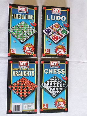 My Games Magnetic Travel Games Draughts Snakes & Ladders Ludo Chess