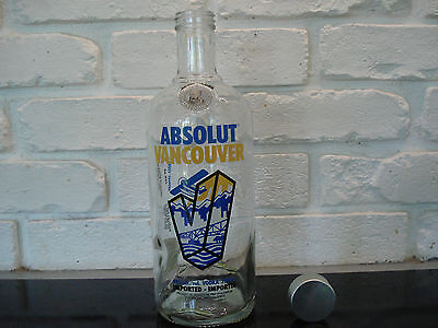++++ Very Rare Empty Absolut Vodka  Vancouver Collector Bottle  Empty ++++