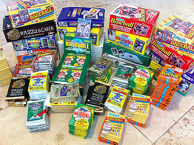 Baseball Card Lot - 50 factory sealed baseball cards - 20 years old and older