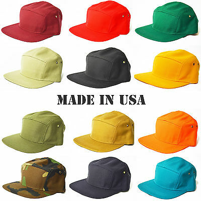 NEW LOT OF 3 PLAIN SOLID 5 PANEL OLD SCHOOL BASEBAL CAMP RETRO HAT ANY COLOR CAP