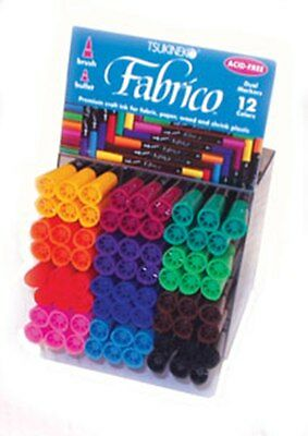Fabrico Dual Tipped Marker Pen Tsukineko - Ideal For Fabric - 36 Colour Choices