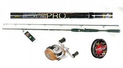 """Lineaeffe Baitcaster rod 6ft 6"""" H + LHW Baitcasting reel with 100mts of braid"""