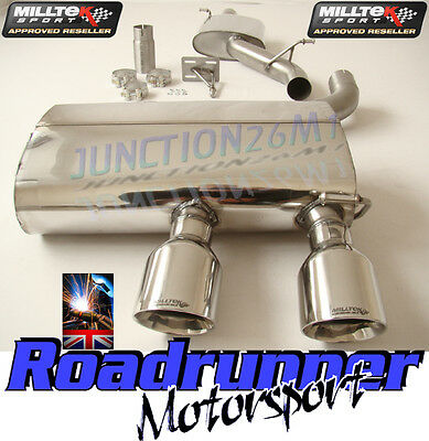 Golf Mk5 R32 Exhaust Milltek Cat Back Resonated System Quieter Gt100 Ssxvw134