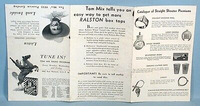 Tom Mix Western Straight Shooter Premiums Catalog Ralston Purina Co. Cereal 1935