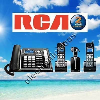 Rca 25270Re3 Dect 6.0 2-Line Phone - 2 Cordless Handsets + Headset - New