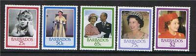 Barbados 1986 Queens 60th Birthday SG810/4 MNH