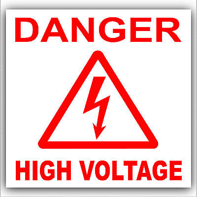 Danger High Voltage Stickers-Electricity Health and Safety Warning Symbol Signs