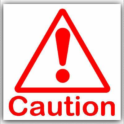 1 - 6 Caution Sticker-Health and Safety-Danger-Red Warning Symbol External Signs