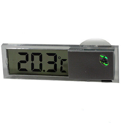 Digital Lcd Display Auto Car Home Window Thermometer Indoor Suction Cup