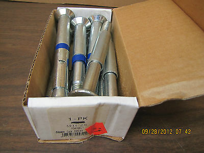 NEW POWERS 09544 POWER anchor BOLT  5/8 x 5 1/2 FH LOT OF 8