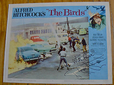 The Birds 1963 Original Lobby Card #8 Signed Tippi Hedren Alfred Hitchcock