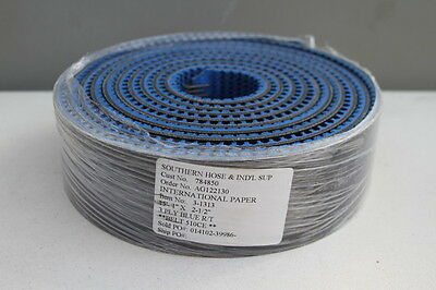 "New Mulhern 3-1313, 3-Ply Blue Rough Top 15.1' Long x 2.5"" Wide Conveyor Belt"