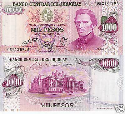 URUGUAY 1000 Pesos Banknote World Money UNC Currency BILL Note Pick p52 1974