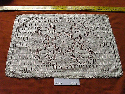 White Rectangle Lace Doily Flowers