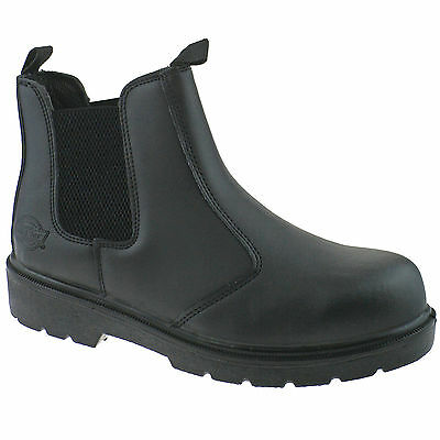 Mens Dickies Dealer Safety Work Boots Size Uk 6 - 12 Steel Toe Leather Fa23345