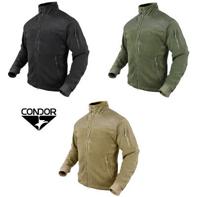 Condor 601 Tactical Military Hunting Alpha Micro Fleece Jacket with Patch