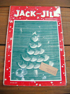 christmas 1955 Dec. Jack & Jill Magazine #1 children's mag during the golden age