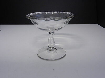 """Fostoria Century #2630 Jelly Compote Clear Crystal 4 3/8"""" T ca 1950-1982"""