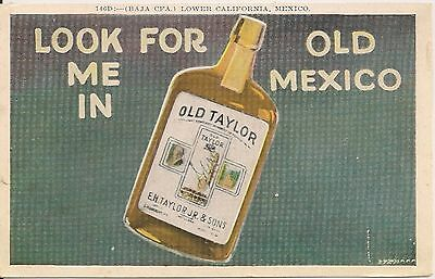 Old Taylor Whiskey Advertising Postcard