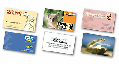 1000 Full Color 2 Side REAL PRINTING Business Cards 16pt UV High Gloss Finish