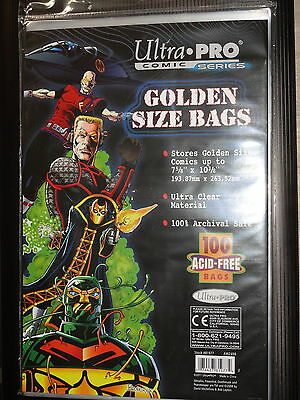 Ultra Pro Golden Size Bags X 100 Acid Free Sealed.