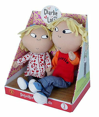 Charlie and Lola Talking Poseable Dolls Set of 2 BOXED New  **LOLA IS DETACHED**