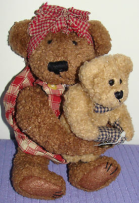 "Boyds Bears 1985-97 Retired Bear And Friend 10"" Tall Jointed Collectible ~ Bm"