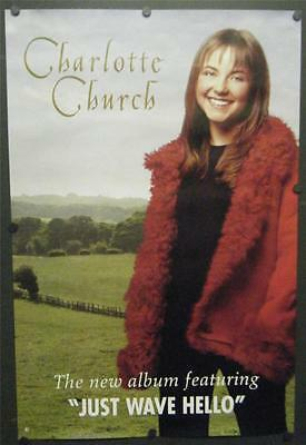 "Charlotte Church Promo Poster 1999 Self-Titled Album Just Wave Hello 24"" X 36"""