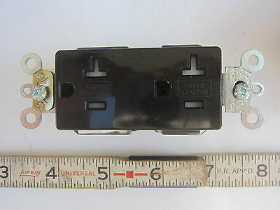 Leviton TDR20 20A 125V Hubbell 5262 Style Brown Duplex Receptacle 5-15R, New