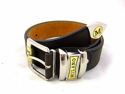 """Black Brown Trendy Genuine Real Leather Mens Belt 1.5"""" Thick In Small - Xxl"""